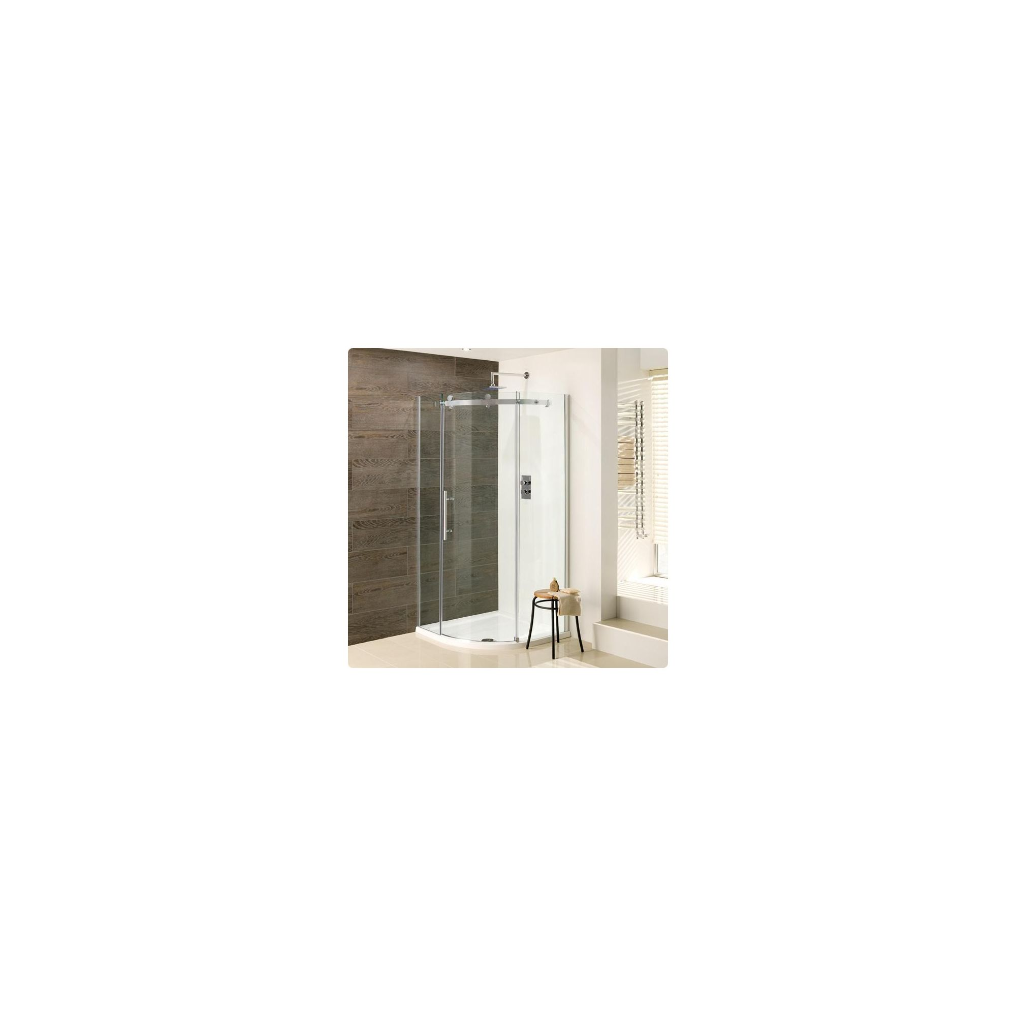 Duchy Deluxe Silver Quadrant Shower Enclosure 900mm (Complete with Tray), 10mm Glass at Tesco Direct