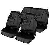 Full set HD Waterproof Nylon seat Seat Covers -Black