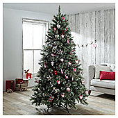 Dobbies Ullswater Snow Tip Christmas Tree, 7ft