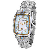 Judith Ripka Ladies Stainless Steel CZ Stone, MOP Dial, Date Watch WA000316-S
