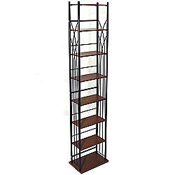 Dakota - 140 Dvd Blu-ray / 210 Cd Media Storage Tower Shelves - Black