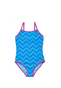 F&F Zigzag Swimsuit - Blue
