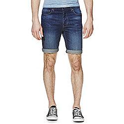 F&F Mid Wash Denim Shorts Waist 34 Mid Wash