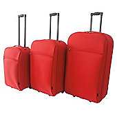 Tesco 2-Wheel Suitcase, Red Set of 3