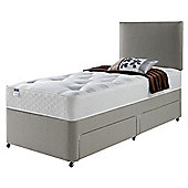 Silentnight Miracoil Luxury Ortho Tuft Non Storage Single Divan Mink no Headboard