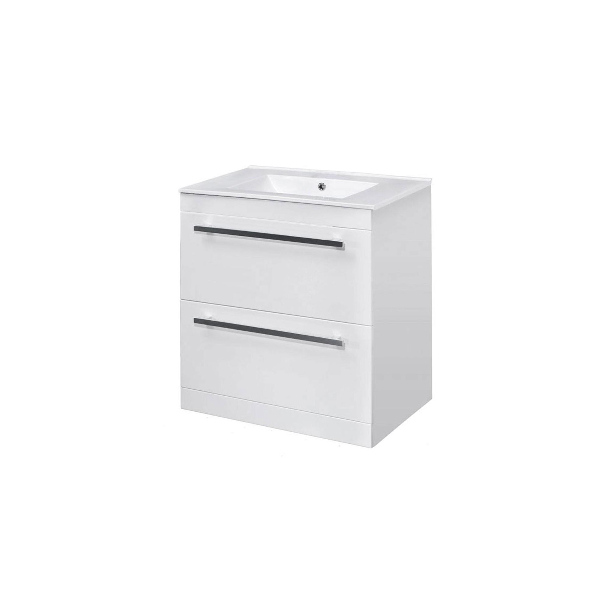 Premier Floor Standing Minimalist Basin Vanity Unit White 600mm