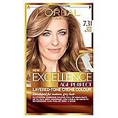 L'Oreal Paris Excellence Age Perfect 7.31 Dark Beige Blonde