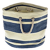 Wicker Valley Tobs Soft Storage New England Round Bag in Blue