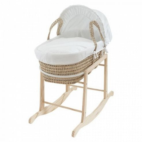 Clair de Lune Wooden Rocking Moses Basket Stand - Natural