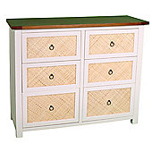 Wiseaction Havana Chest of 3 and 3 Drawer