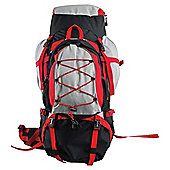 Tesco 70L Rucksack with 15L Removable Daysack, Red