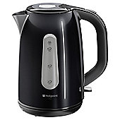 Hotpoint 1.7L Black Stainless Steel Kettle