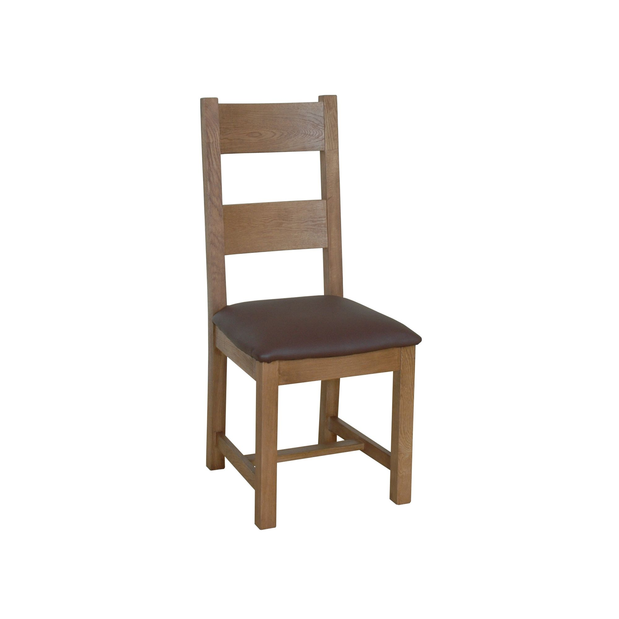 Wiseaction Florence Dining Chair with Dark Brown Leather Seat