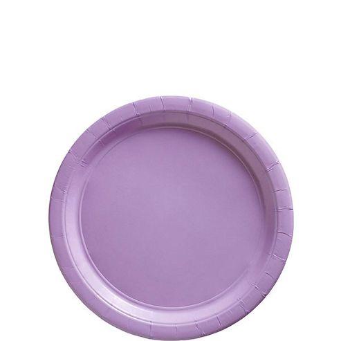 Hydrangea Lilac Party Paper Dessert Plates 17cm
