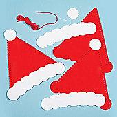 Christmas Crafts Santa Hat Sewing Kits (Pack of 3)