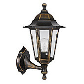 Traditional Mayfair IP44 Outdoor Up and Down Wall Light in Brushed Gold