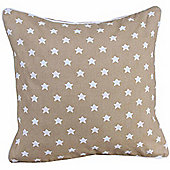 Homescapes Cotton Beige Stars Scatter Cushion, 45 x 45 cm