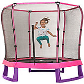 Plum 7ft Junior Jumper Trampoline and Enclosure - Pink & Purple