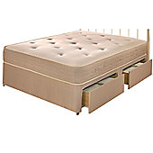 Repose Pocket 1000 Platform Divan Bed - King / 2 Drawer