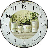 Roger Lascelles Clocks Herb Pots Wall Clock