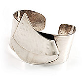 Hammered Stainless Steel Tribal Sail Cuff-Bangle