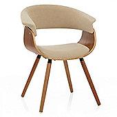 Grafton Dining Chair Walnut & Beige
