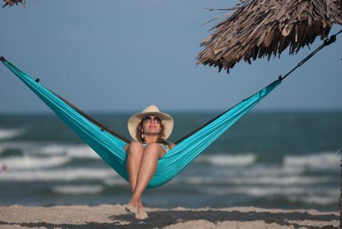 La Siesta Colibri Single Person Travel Hammock - Turquoise