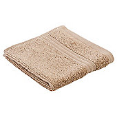 Tesco Hygro 100% Cotton Face Cloth, Caramel