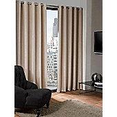 Logan Eyelet Thermal Blackout Curtains, Natural 168x183cm