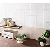 Flat Gloss White Ceramic Wall Tile 198x198mm Box of 25 (0.98 M² / Box)