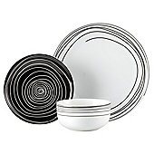 Atlanta Super White Dinner Set, 12 Piece, 4 Person