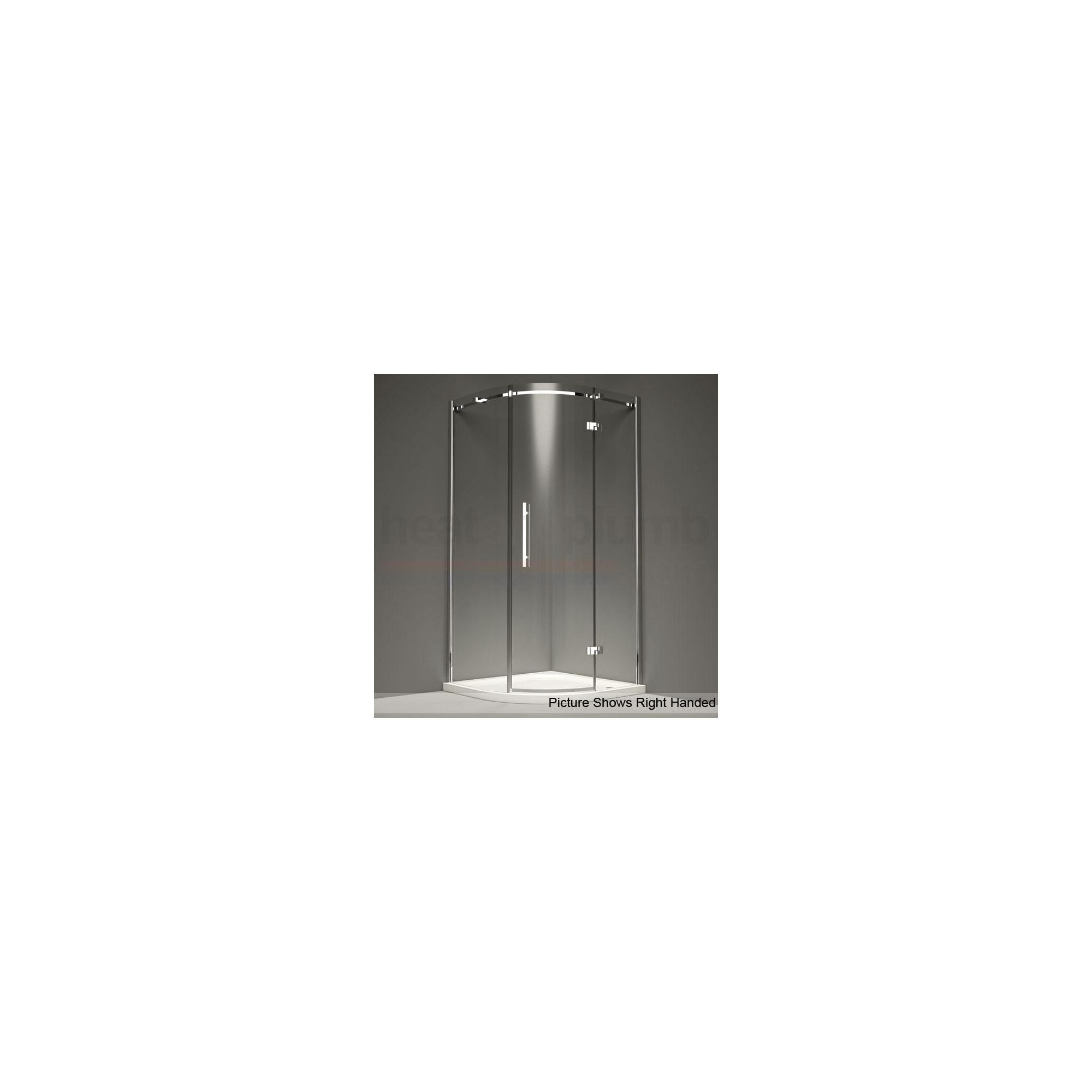 Merlyn Series 9 Hinged Door Curved Quadrant Shower Enclosure 800mm (Complete with Tray) - 8mm Glass at Tesco Direct