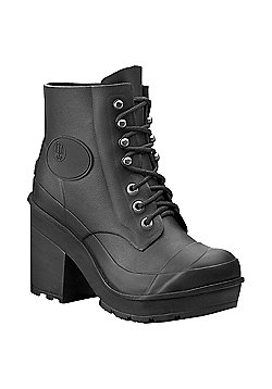 Hunter Block Heel Boots Black Size 5