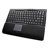 Accuratus 540RF Mini Wireless 2.4GHz Keyboard with Media Buttons and Built-in Touchpad (Black)
