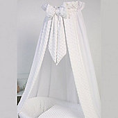 Clair de Lune Cot Bed Freestanding L Drape & Rod (Dimple White)