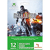 Xbox Live 12 month +1 month Gold Battlefield 4 Branded