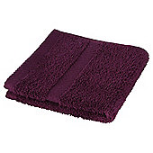 Tesco 100% Combed Cotton Face Cloth Plum