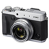"Fuji X30 Digital Camera, Silver, 12MP, 4x Optical Zoom, 3"" LCD Screen"