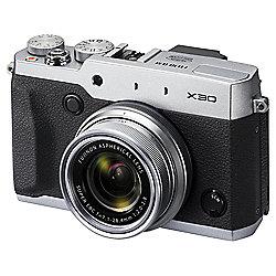 "Fuji X30 Digital Camera, Silver, 12MP, 4x Optical Zoom, 3"" LCD Screen"