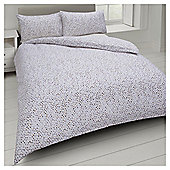 Basic Watercolour Polka Dot Duvet Set - Cream