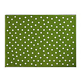 Lorena Canals Dots Green Children's Rug - 120 cm x 160 cm (4 ft x 5 ft)