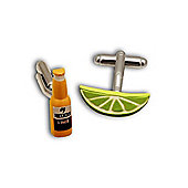 Mexican Lager & Lime Slice Cufflinks