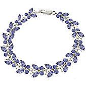 QP Jewellers 5.5in 7.80ct Tanzanite Butterfly Bracelet in 14K White Gold