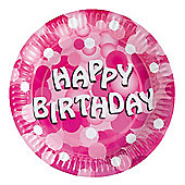 Amscan Sparkle Party Paper Plates Pink