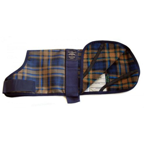 Animate Camel Watch Tartan Dog Coat 25Cm