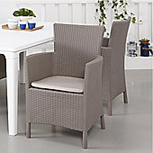 Allibert Montana Graphite Grey Rattan Dining Chair & Cushion