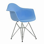 Charles Eames Inspired Eiffel DAR Blue Dining Chair