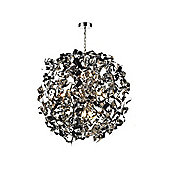 Ultra Modern Chrome Pendant Light with Dimmable Halogen Lamps