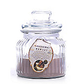 Large 'Grandma Memory' Scented Candle in a Glass Jar - Fudge