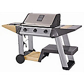 Outback Excelsior 3 Burner Hooded Stainless Steel BBQ Including Gas Hose & Regulator
